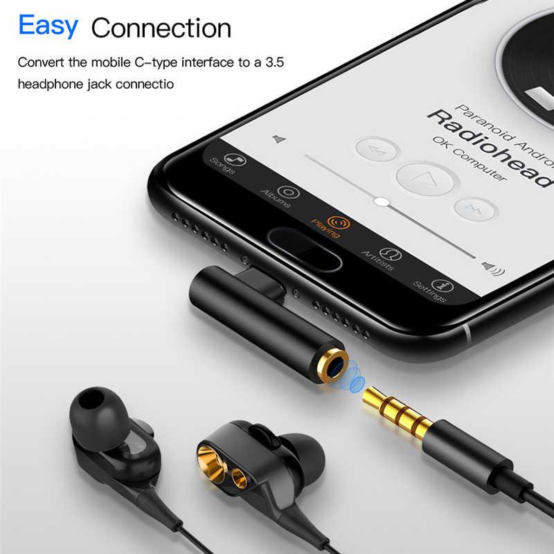 USB-C 3.5 مللي متر جاك سماعة كابل نوع C الذكور إلى 3.5 مللي متر AUX محول الصوت USB C 3.5 محول كابل ل شاومي 6 هواوي ماتي P20