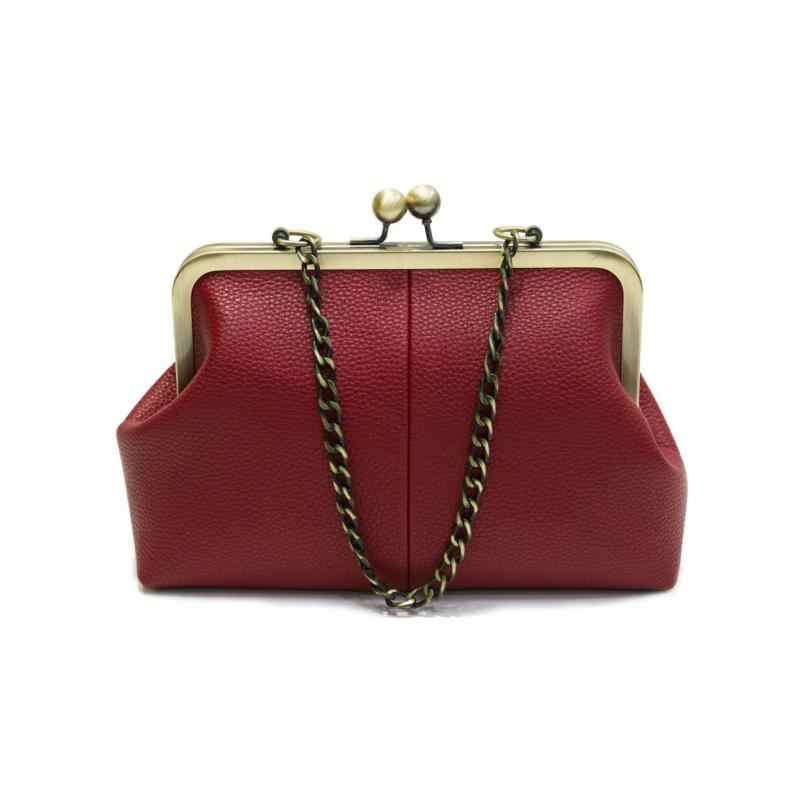 Unishow винтажные сумки на плечо женские маленькие цепи сумки через плечо поцелуй замок дизайнерские Брендовые женские сумки-мессенджеры Sac Bolsa
