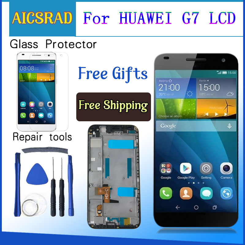 AICSRAD Best Quality Grade AAA for Huawei G7 LCD Screen with Touch Screen Digitizer with Frame AssemblyAICSRAD Best Quality Grade AAA for Huawei G7 LCD Screen with Touch Screen Digitizer with Frame Assembly