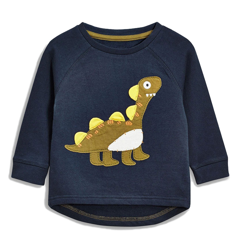 Kids Boys T Shirt Long Sleeve Dinosaur Outfit Baby Boy Sweatshirt Appliques Children Clothing Spring Casual Tops for 1-6 Years