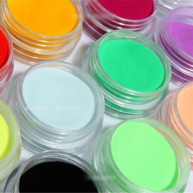 2015 горячие 12 Цветов акрил Косметическая пудра Дизайн ногтей маникюр Советы 3D украшения Builder полимер Новый