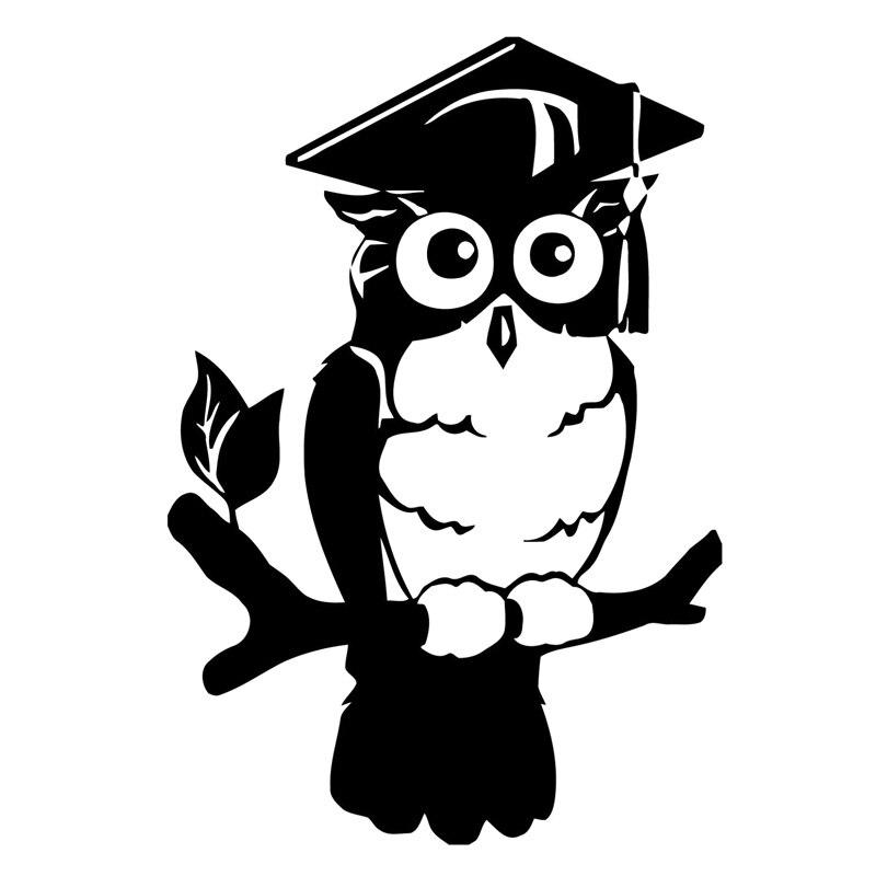 11.4 см * 16.5 см Сова Птицы мультфильм моды автомобильные аксессуары стикер черный/Серебряный S3-5821