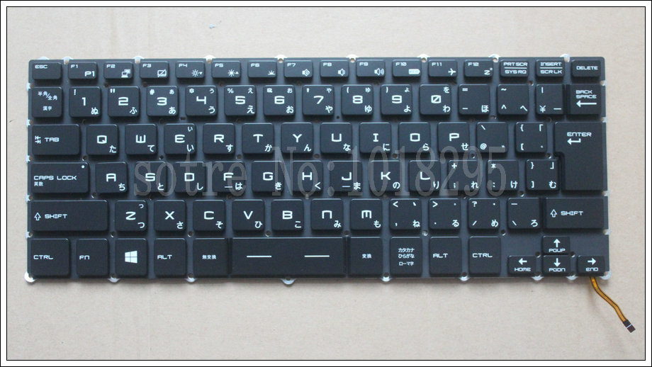 NEW Japan Laptop Keyboard For for MSI Steelseries GS43 GS40 GS40-6QE81FD GS43VR JP Keyboard Backlit цена