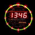 DIY DS1302 Rotating LED Electronic Digital Clock Kit 51 SCM Learning Board 5V