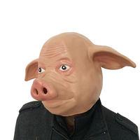 Cor da pele de Látex Engraçado o Dia Das Bruxas Cosplay Do Partido Do Disfarce Máscaras Realistas Rosto Cheio Máscara de Animais Máscara de Cabeça de Porco Lifelike Decoração