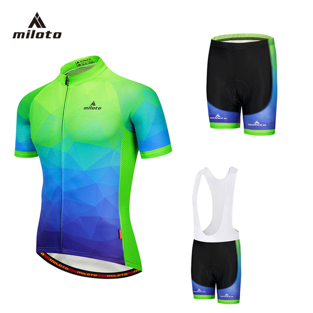 MILOTO 2018 Cycling Jersey Sets Summer Racing Cycling Clothing Ropa Ciclismo  Short Sleeve mtb Bike Jersey Suit Maillot Ciclismo b2f42b42b