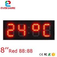 8 inç Kırmızı Renkli Ekran Büyük Açık Su Geçirmez led saat ekranı Işareti Sıcaklık Göstergesi ile