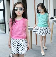Baby Clothes Sets Summer Girls Sleeveless Tops Shorts Suits For Children Solid Clothing Sets Girls Chiffon