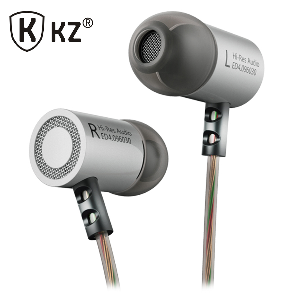 Fone de ouvido Original KZ ED4 In Ear Earphones Professional HIFI Stereo Sport Earphone Super Bass Noise Canceling auriculares original kz rx earphones 3 5mm in ear fone de ouvido super bass earbuds noise cancelling in ear phones for smartphones