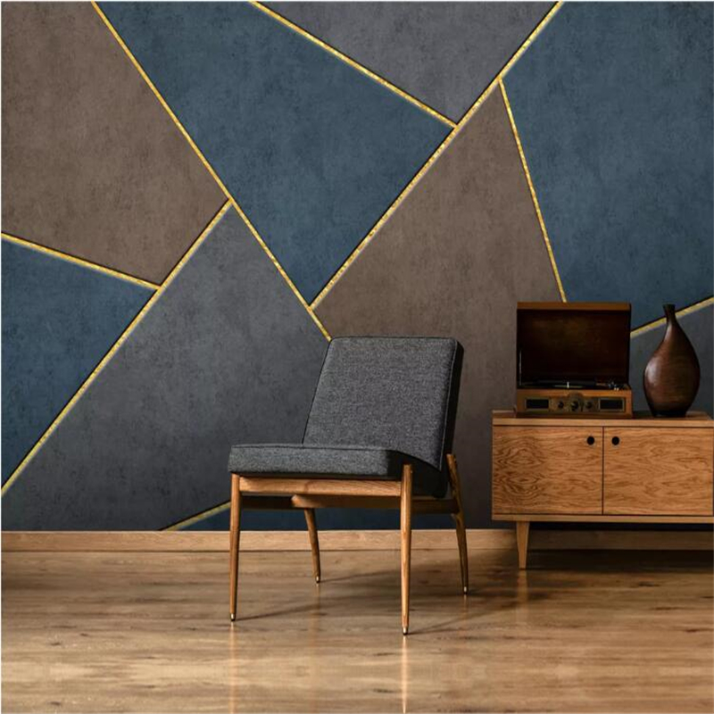 beibehang  wall papers home decor Custom wallpaper  Modern minimalist Nordic personality abstract geometric light luxury mural Tbeibehang  wall papers home decor Custom wallpaper  Modern minimalist Nordic personality abstract geometric light luxury mural T