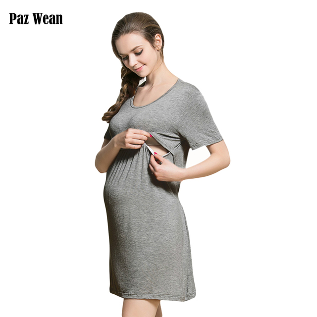 5237fa47235 Pregnancy work clothes maternity gown dresses breast feeding clothes  maternity home clothes baby nursing mother dress clothing