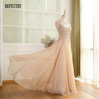 Factory Direct Sales Chiffon Long Prom Dresses Vestido De Festa Lace Top Elegant Evening Party Dress