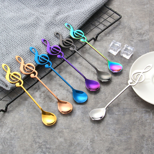 Treble Clef Shaped Tea Spoons Set