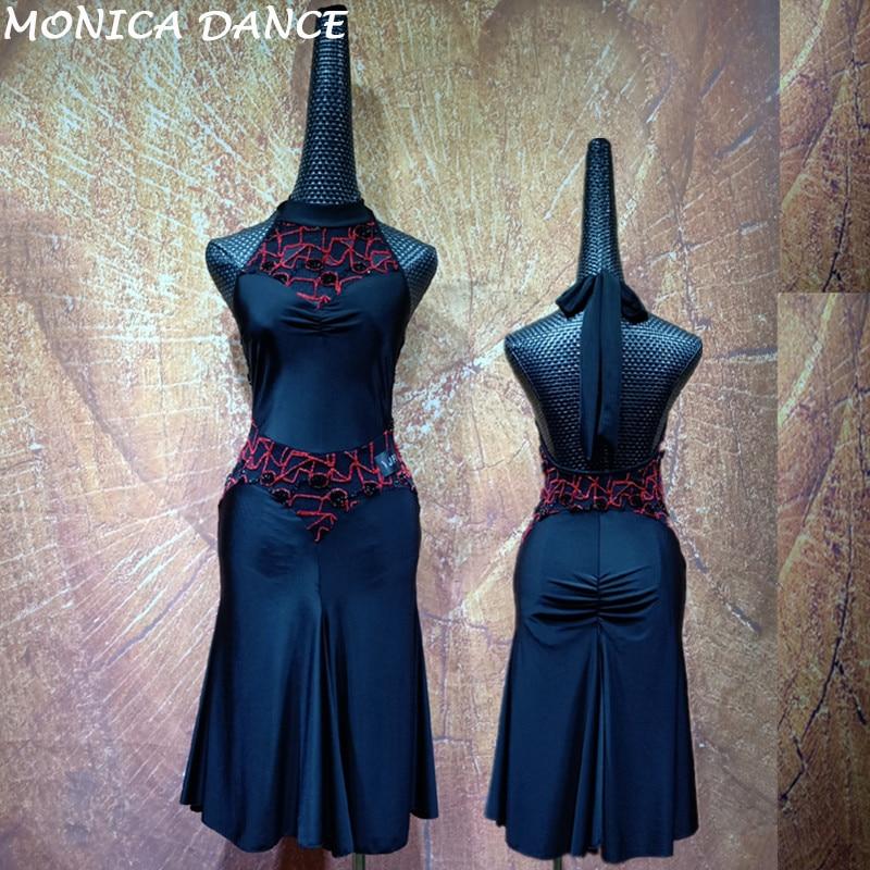 Robe de danse latine pour femmes adultes robe de danse Salsa tenue de compétition latine Costumes de danse Samba robe à franges latine Tango T2