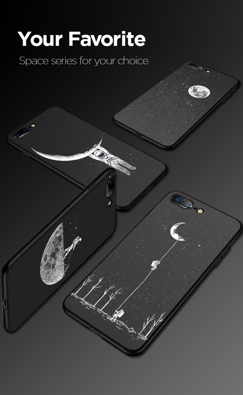 Electronics - Newest Space Moon Astronaut Phone Cases For iphone 7 8 X Case