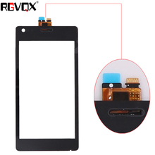New Front Panel For Sony Xperia M C1904 C1905 C2004 C2005 Touch Screen Sensor Digitizer Outer Glass Repair White Black outer front touch screen digitizer glass panel replacement for sony xperia m c1904 c1905 c2004 c2005