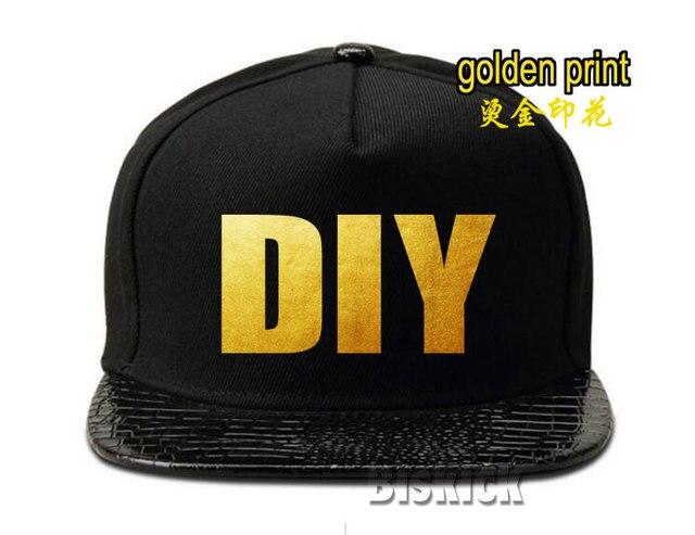 Men women cap golden Customized Gift Logo Name Men Women Valentine s day Custom  Made leather leopard hip hop golf sun hats bc8c4d56d97