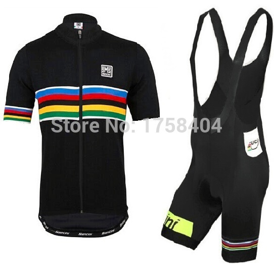 Uci 2015 men`s Santini s.pellegrino Cycling jersey Clothes Cycling short  sleeve jersey+Bib Shorts ciclismo bicycle gel pad-in Cycling Jerseys from  Sports ... 6c9e3f65a