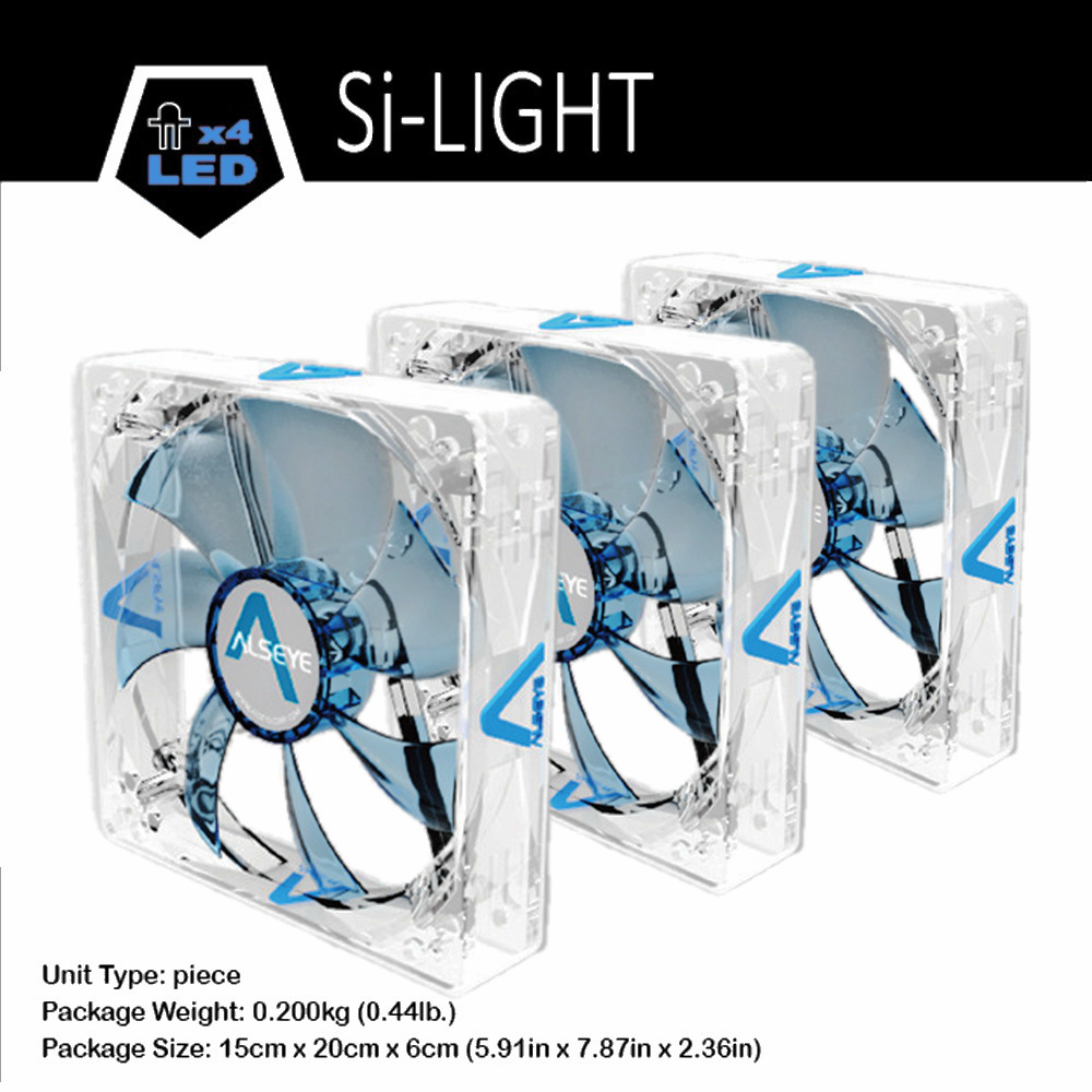 Alseye Computer Led Case Fan 120mm Silicone Quiet Radiator 3pieces 12 Cm Sooncool 3pin 1200rpm 12v Cpu For Blue Red Available In Fans Cooling From