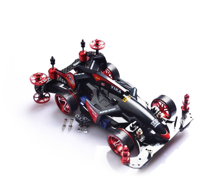 Free Shipping Self Made Mini 4WD Car Model MA Chassis With Carbon Fiber Plates Aluminium Alloy Wheel Hub Not Assembled