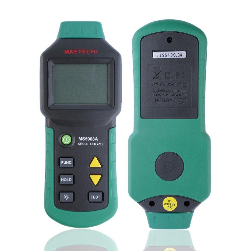 все цены на  3Pcs MASTECH MS5902 Circuit Breaker LED Tester Finder for CATII 600V Zeroline 110V US  онлайн
