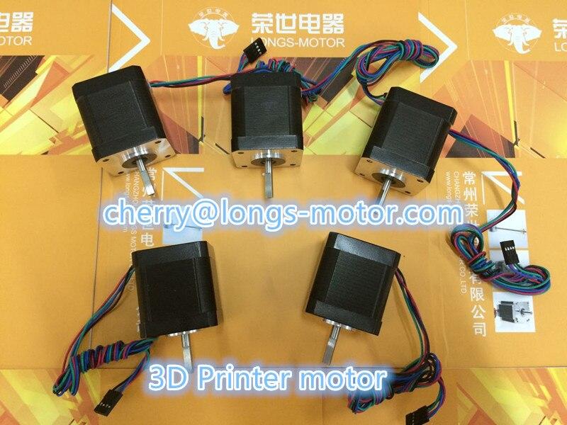 Longs Motor 5PCS Nema17 D-shaft  Stepper  motor / stepping Motor  1.5A  75oz.in 4-Lead 17HS5415P1-X Reprap 3D Priner / CNC WindLongs Motor 5PCS Nema17 D-shaft  Stepper  motor / stepping Motor  1.5A  75oz.in 4-Lead 17HS5415P1-X Reprap 3D Priner / CNC Wind
