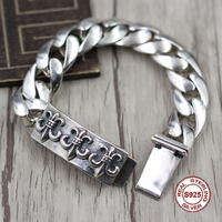 S925 Men's bracelet in Sterling Silver Personality trend domineering anchor Punk style retro classic Send a gift to love
