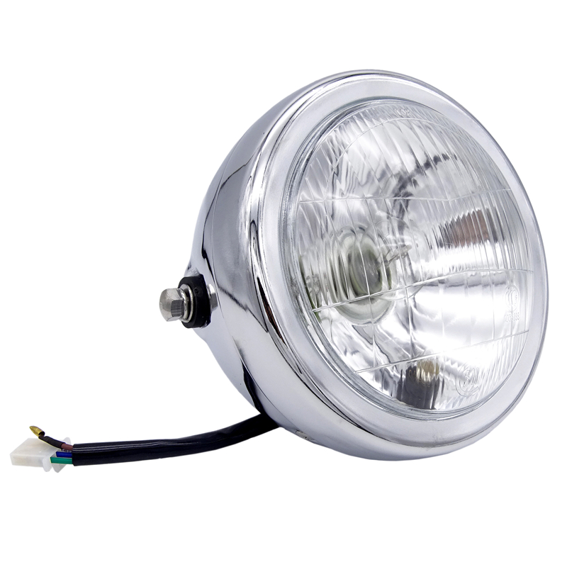 6 Inch 35W 12V Universal Retro Metal Fog Lamp Motorcycle Headlight Side Mount Round Motor Headlamp For Holder For Halley/Suzuki