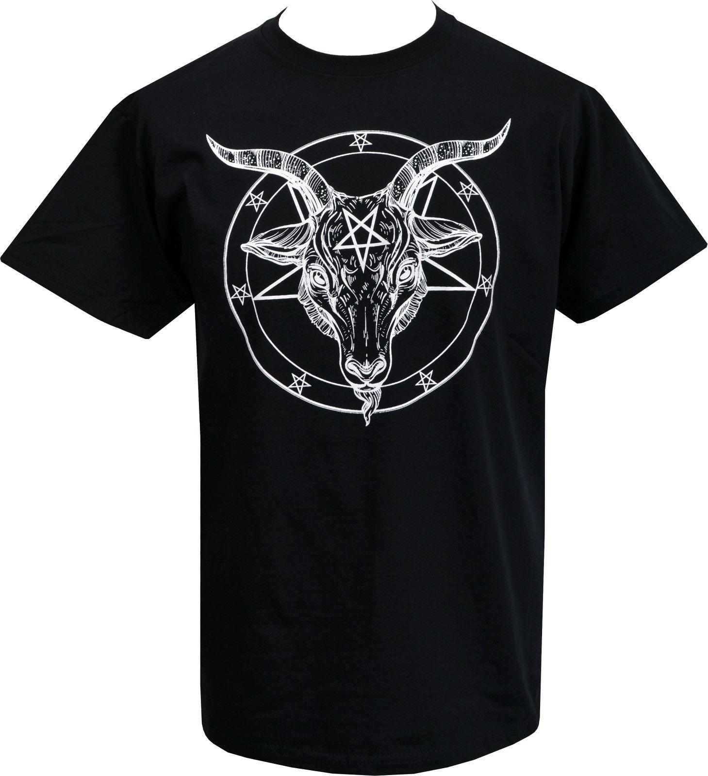 Tops & Tees Humorous Mens T Shirt Baphomet Pentagram Satantic Occult Church Of Satan Goat Goth S 3xl Pride Of The Creature T Shirts Top Tee Mild And Mellow Men's Clothing