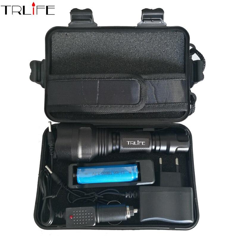 CREE C8 8000 lumens cree xml t6 L2 haute puissance led lampe de poche + DC/Chargeur De Voiture + 1*18650 batterie + Étui LED Lampe Torche Lampe