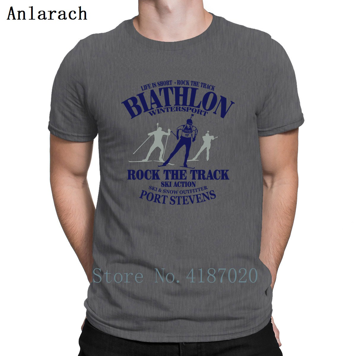 Biathlon T-Shirt Top Tee Plus Size Customized Unisex T Shirt For Men Best Natural Summer Style Anlarach Family