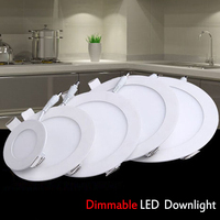 Dimmable Round Led Panel Lights 3w 4w 6w 9w 12w 15w 18w SMD2835 LED Ceiling Recessed