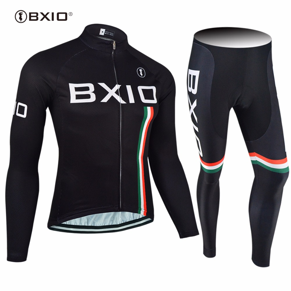 2017 New Arrival BXIO Maillot Ciclismo Hombres Cycling Jersey MTB Bike Clothing Long Pro Team Autumn Bicycle Clothes BX-0109H095 2017pro team lotto soudal 7pcs full set cycling jersey short sleeve quickdry bike clothing mtb ropa ciclismo bicycle maillot gel