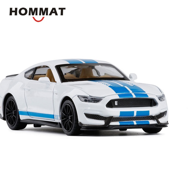 HOMMAT 1:32 Scale Ford Mustang Shelby GT350 Toy Car Model Diecasts & Toy Vehicles Alloy Metal Model Car Gifts Toys For Children
