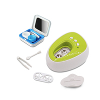 Portable Contact Lens Washer Case Mini Ultrasonic Cleaner Automatic Ultrasound Glasses Box