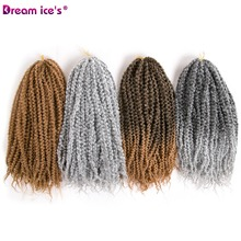Dream ice's synthetic Ombre kinky curly crochet hair braids