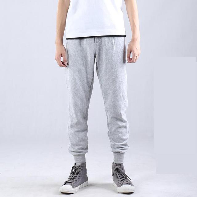 New Fashion Plus Size Men Pants Fit Cotton jogger pants summer style Sweatpants Men's Trousers French terry Fabric Pants s~3XL