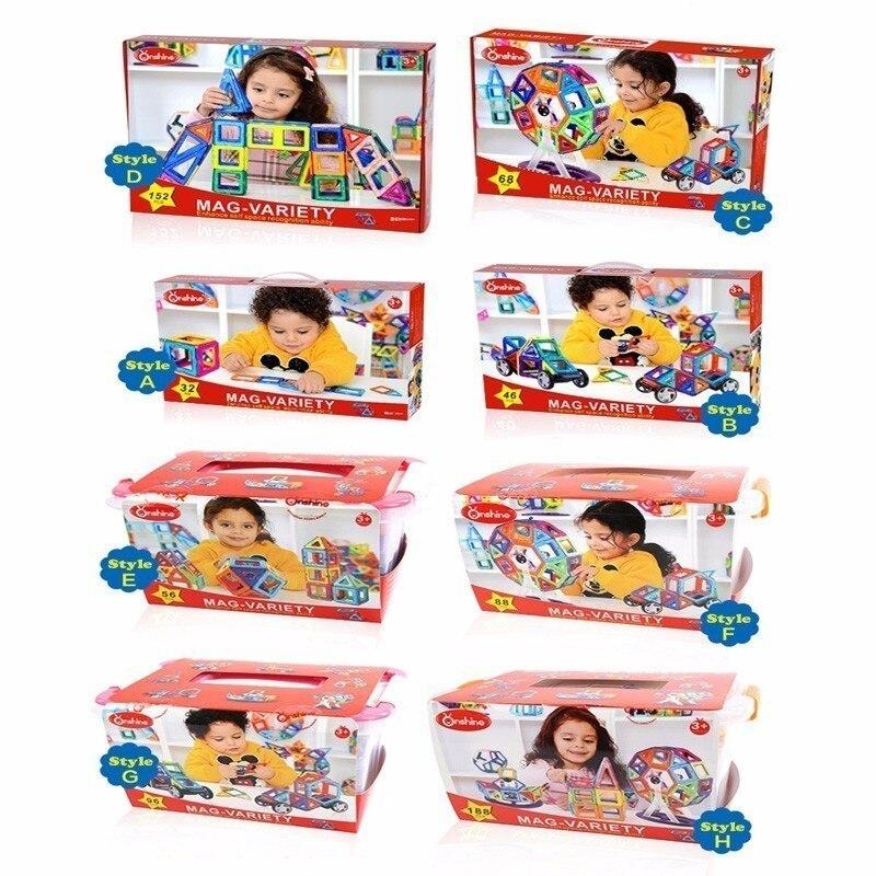152pcs MAG VARIETY DIY Plastic Mini Magnetic Building Blocks Construction Model Educational Enlighten Assembly Toys For Children in Magnetic from Toys Hobbies