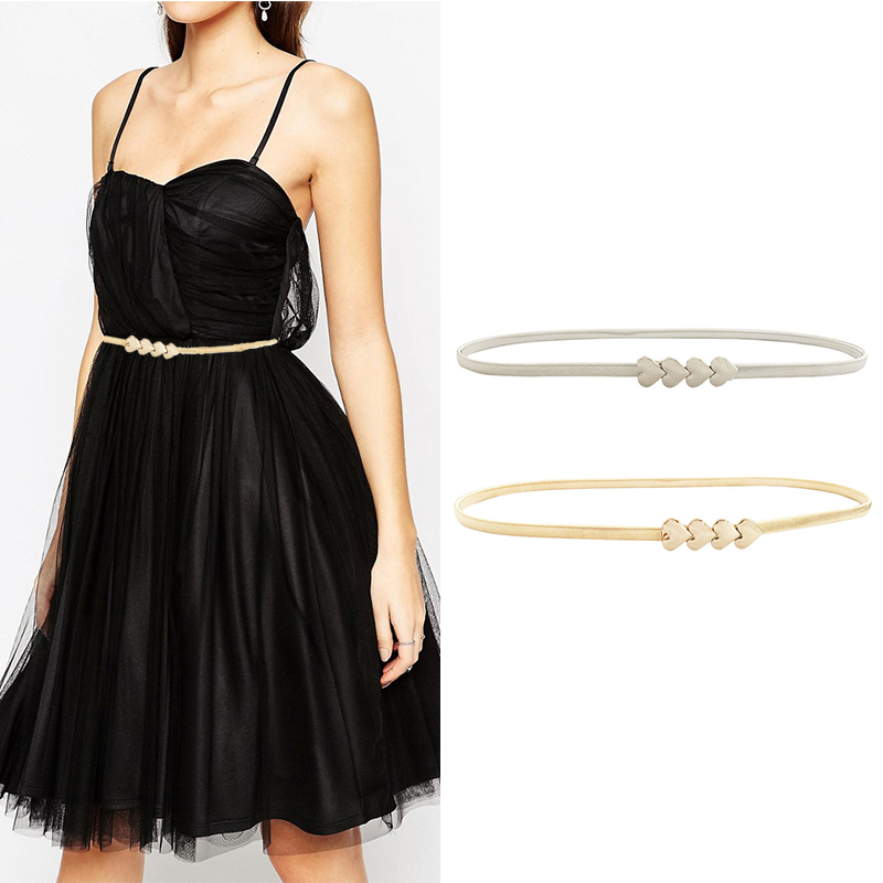 Seabigtoo Metal buckle waist chain   belts   female cute heart ladies   belts   for women dresses designer   belts   women high quality hot