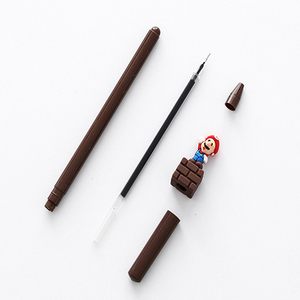 Image 5 - 30 יח\חבילה Kawaii סופר מריו ג ל עט Cartoon ג ל עט חידוש 3D מכתבים בית ספר הפרס תלמיד ציוד לבית ספר סיטונאי
