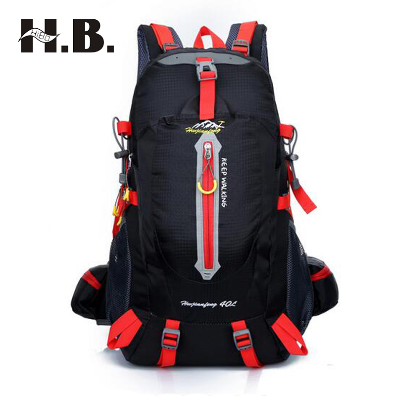 HIBO Brand Design Men s Travel Bag Man Backpack Polyester Bags Waterproof Shoulder Bags Computer Packsack
