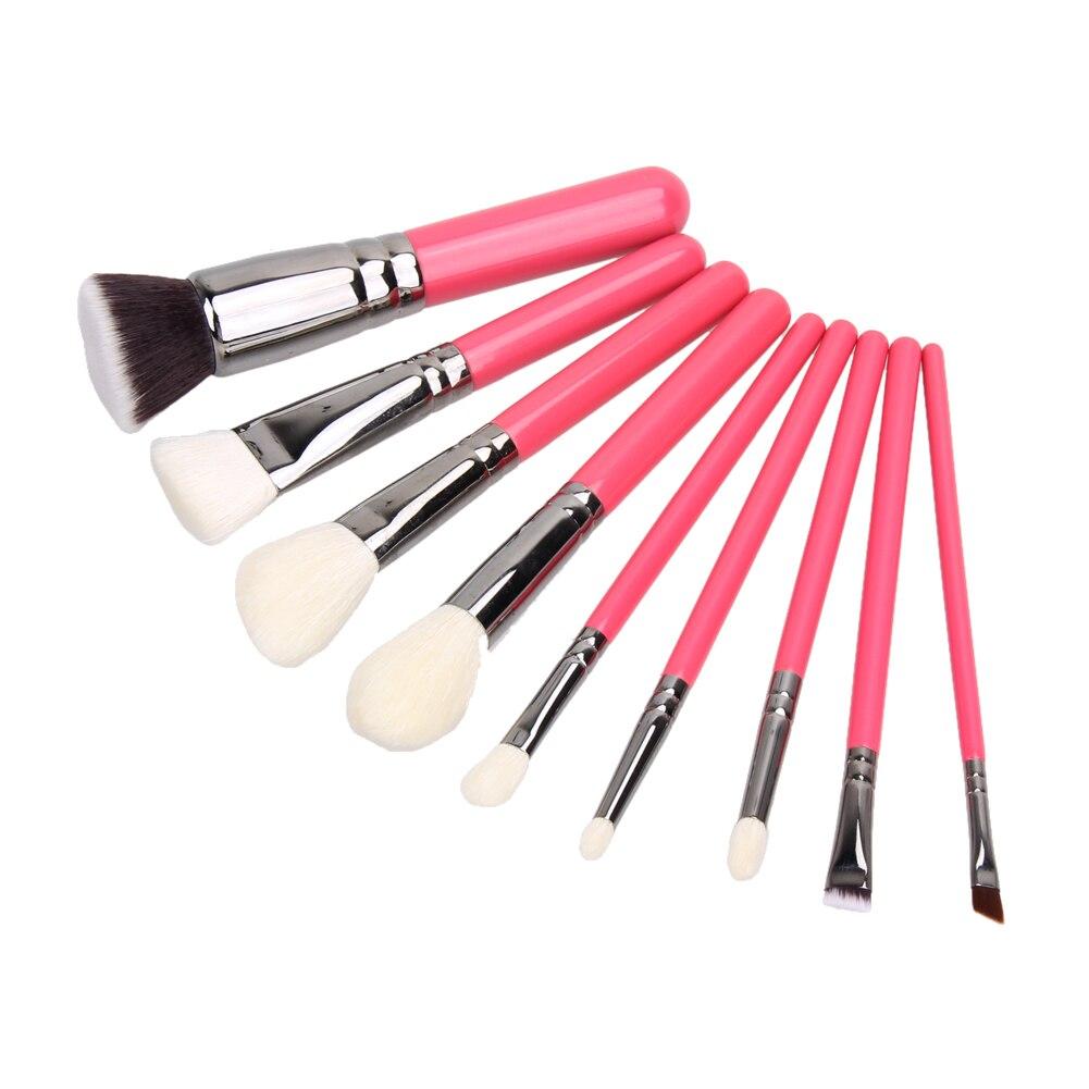 9 pcs Soft Goat Hair Makeup Brushes Powder Foundation Eyeshadow Blush Contour Beauty Brush Set Tools Maquiagem