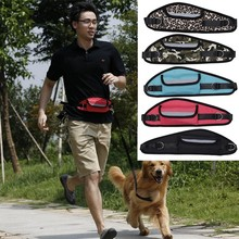 Dog Leash Hands Free Dog Walking Running Jogging Puppy Dog Leashes Lead Collars Adjustable Dog Lead