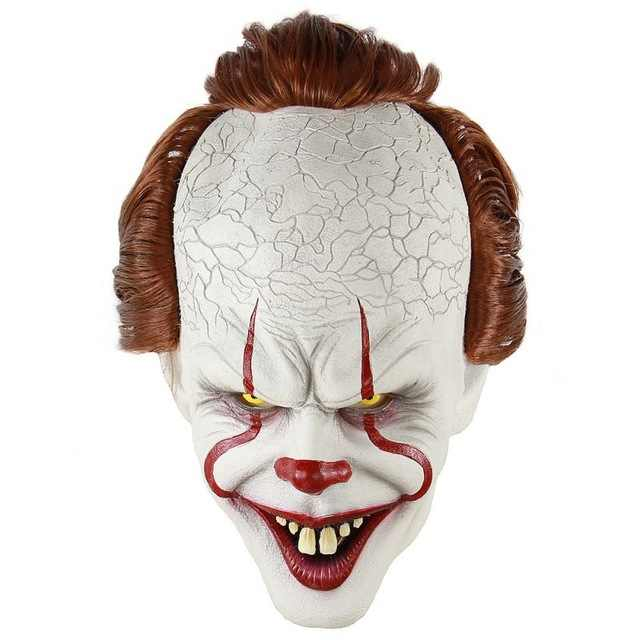 Halloween Horror Sorcerer Clown Mask Latex Full Face Mask For Masquerade Halloween Party Escape Dress Up Party Mask for Adult