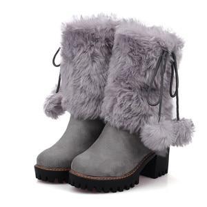 Image 5 - MORAZORA 2020 New arivalฤดูหนาวWARM Snowรองเท้าผู้หญิงรอบToeข้อเท้ารองเท้าfaux FURสบายรองเท้าสุภาพสตรีbooties