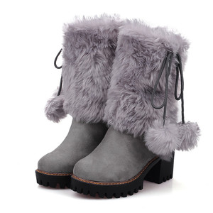 Image 5 - MORAZORA 2020 new arival winter warm snow boots women round toe ankle boots faux fur comfortable platform shoes ladies booties