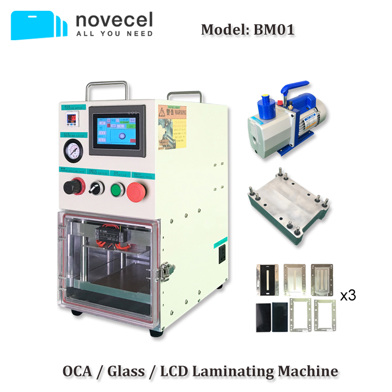Novecel BM01 OCA Vacuum Laminating Machine for  iPhone Edge Screen Repair with 4L Vacuum Pump Compatible for YMJ Mould