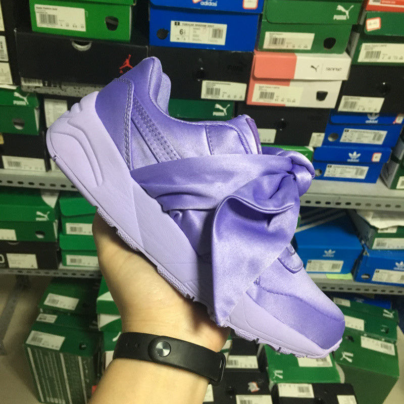 Rihanna X Puma Fenty Womens Bow Trinomic Sneakers shoes pink/purple/ bow ties Badminton Shoes size35-40