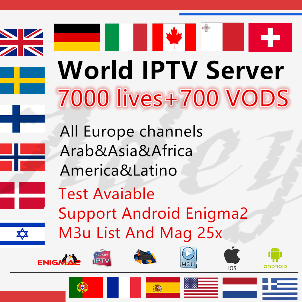7000 Channels World Global IPTV Germany UK USA CANADA FRENCH IPTV Latin 3 6 12 Month