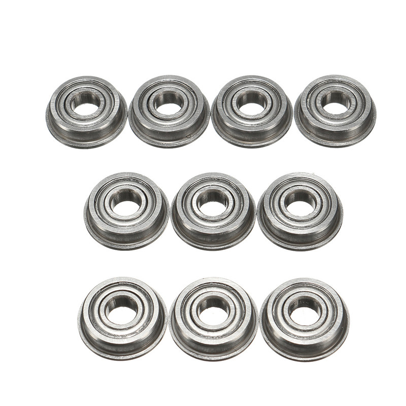 10PCS A Set F695zz Flanged Bearing Mini Metal Double Shielded Radial shaft Ball Bearings Smooth operation 5mmx13mmx4mm